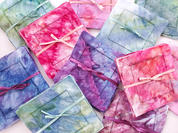 Hand Dyed Linen Cocktail Napkins by Megan Jewel Designs