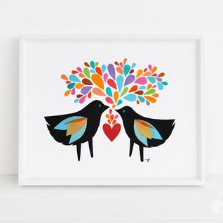 Blackbirds in Love