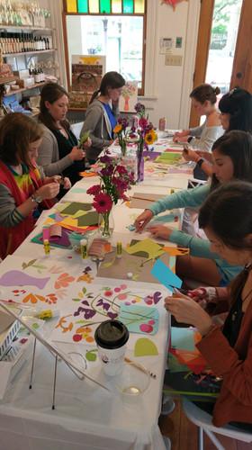 Floral Paper Collage Workshop