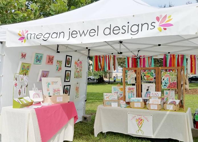 Megan Jewel Designs Art Booth