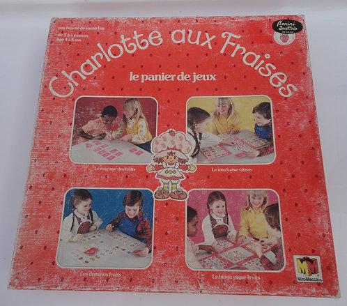 Charlotte aux fraises vintage . Jeu de société, le panier de jeux .