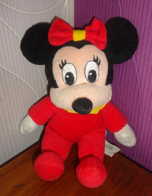 Petite peluche bébé Minnie Mouse Disneyland Paris