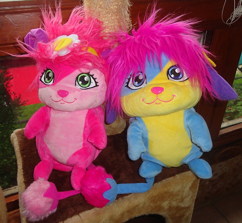 Lot de 2 popples . BUBBLE & LULU . Peluche / doudou