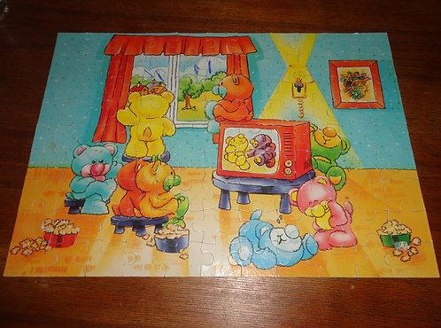 Puzzle Nosy Bears vintage . Happy bears .