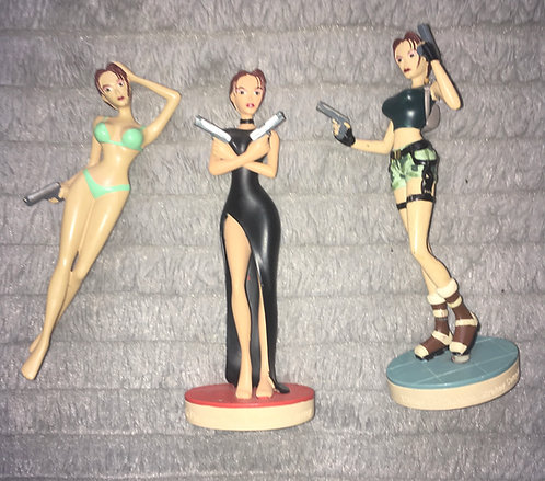 Lot de 3 figurines Lara Croft