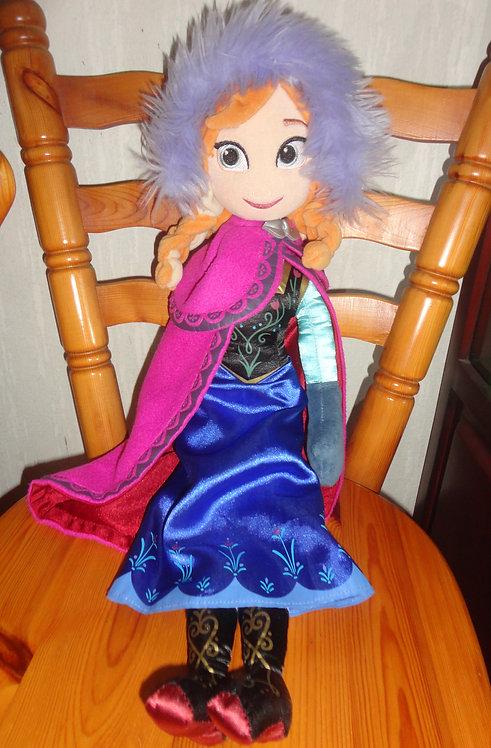 Poupée chiffon peluche Anna La reine des neiges Disney Parks original