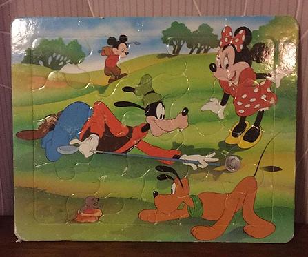 Puzzle carton vintage Minnie Mouse & ses amis Disney