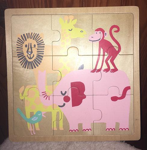 Puzzle en bois Jeu éducatif thème animaux de la savane .