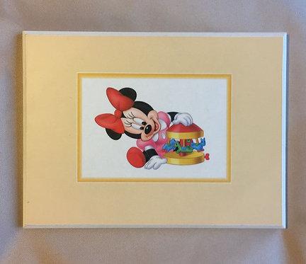 Cadre en bois bébé baby Minnie Mouse Disney