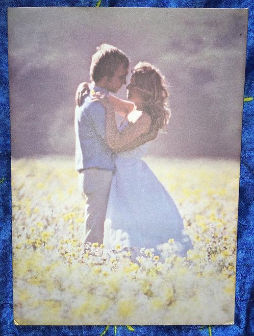 Papier à lettres vintage, couple / amour. 10 feuilles & 10 enveloppes .