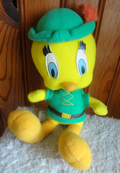 Titi Robin Des Bois . Peluche Looney Tunes. Warner Bros.