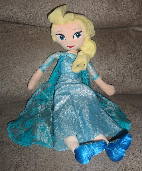 Poupée chiffon peluche Elsa La reine des neiges Disney