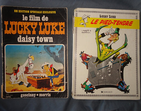 Lot Livre BD Lucky Luke. Lucky Luke Daizy town . Le pied-tendre Edition Dargaud