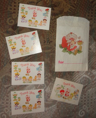 Papeterie, lot de cartes Charlotte aux fraises, Strawberry shortcake