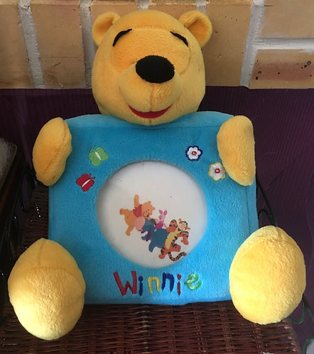 Peluche cadre Winnie l'ourson Disney