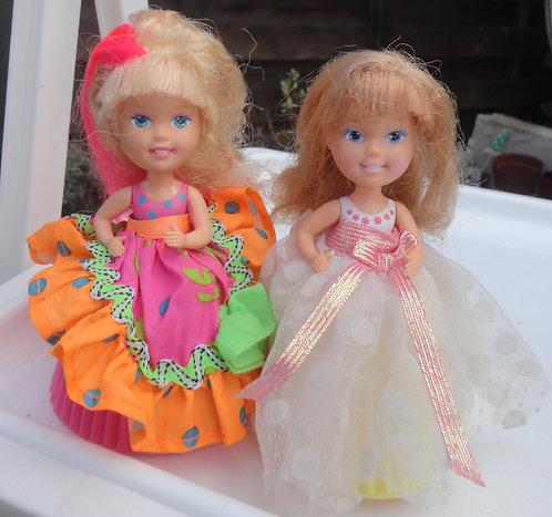 Lot de 2 poupées Cupcake dolls Vintage .