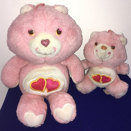 Couple Bisounours Carebears. Groschéri / Love-A-Lot Bear. Vintage
