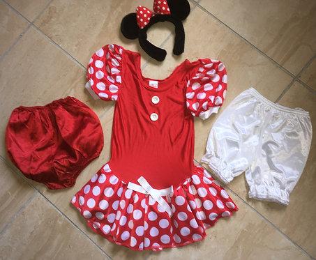 Déguisement Minnie Mouse Disney Store 6/8 ans + haut La belle au bois dormant .