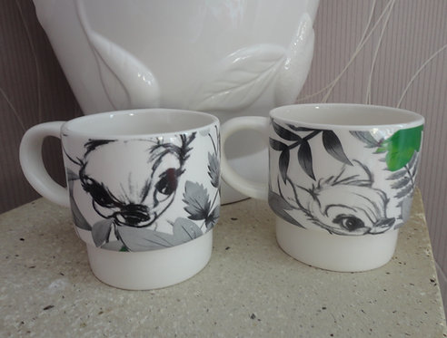 Lot de 2 mugs Bambi Disney