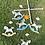 Thumbnail: Mobile bébé en bois chevaux à bascule