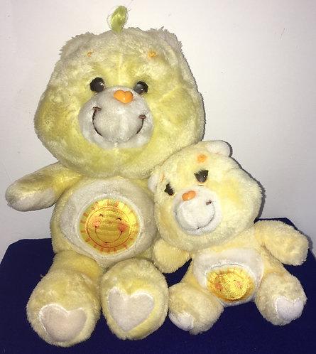 Couple Bisounours Carebears. Grosjojo / Funshine Bear. Vintage