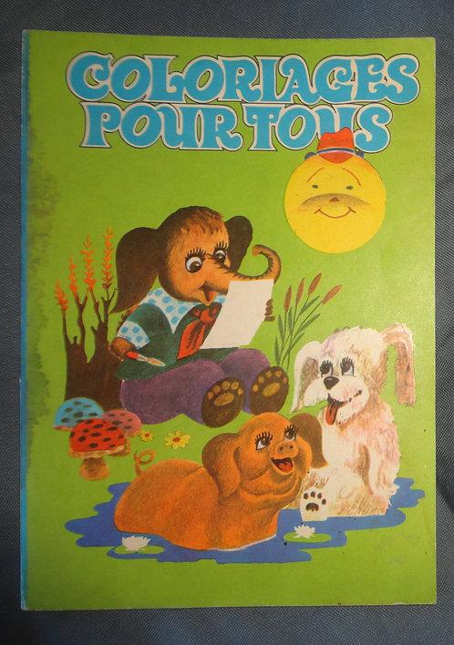 Livre coloriages vintage Coloriages pour tous 1980 Editions Ion Creanga Bucarest