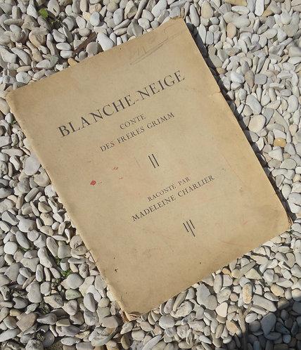 Livre Blanche Neige Conte des frères Grimm Gordinne de Liège Belgique 1938
