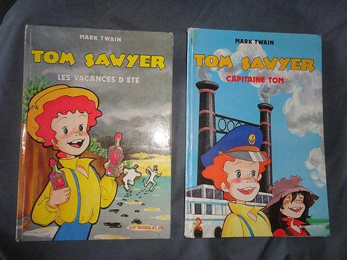 Lot de 2 livres Tom Sawyer Editions G.P Rouge et or. A2