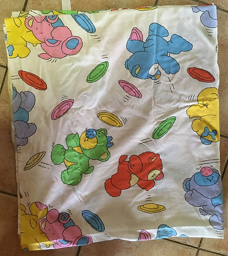 Drap enfant 1.80 x 2.70 . Style Nosy bears Happy bears Vintage .