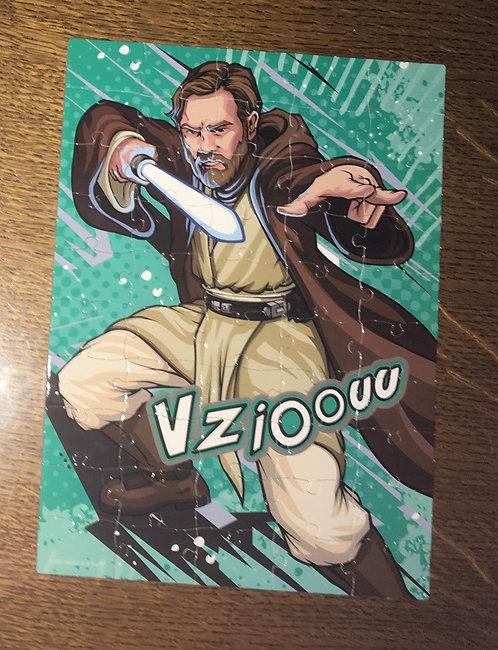 Puzzle carton Star wars 50 pièces Obi-wan Kenobi
