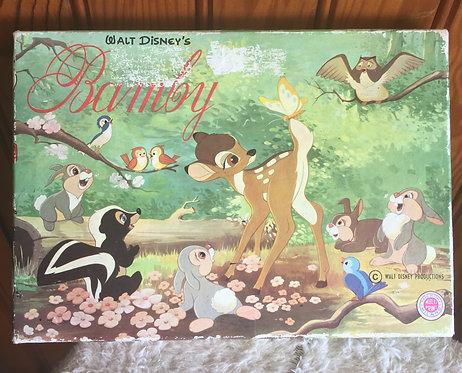 Jeu tampons Bambi Walt Disney Vintage .