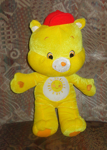 Funshine Bear. Peluche Bisounours / Care bears  .