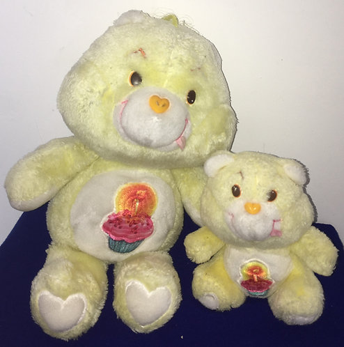 Couple Bisounours Carebears. Grosgâteau / Birthday Bear. Vintage
