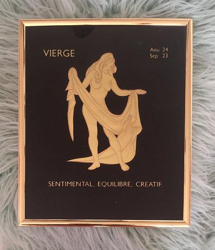 Cadre signe astrologique Vierge