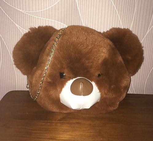 Sac à mains enfant . Tête ours tout doux !