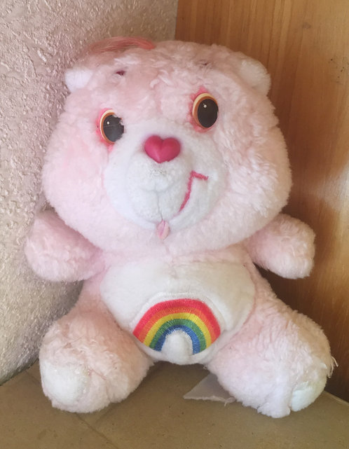 Bébé Bisounours Carebears. Grosfarceur / Gailourson / Cheer Bear. Vintage