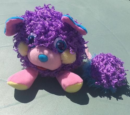 Peluche Popples récent boule rose et violet . 2007 Playmates