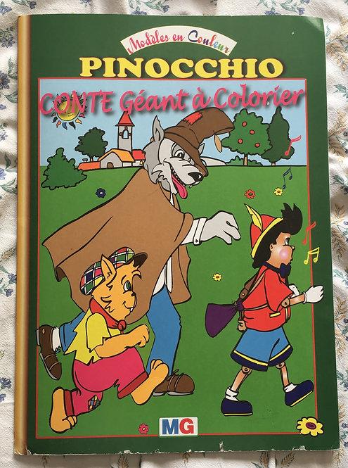 Livre Coloriages géant. Pinocchio . Conte géant à colorier . No Disney