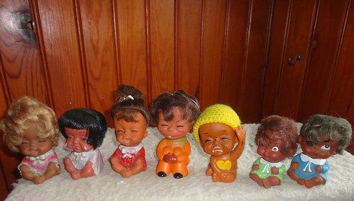 Lot de poupées Vinyl Crying Baby Doll vintage année 60/70