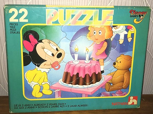Puzzle carton vintage Minnie Mouse Disney