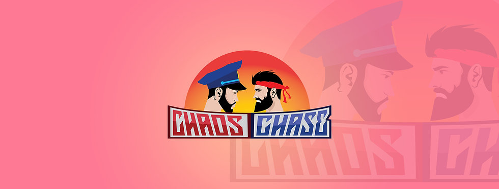 CHAOS CHASE PINK BANNER