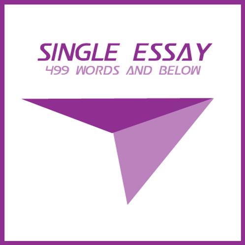Single Essay (Edit) - 499 Words and Below