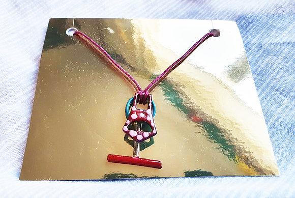 'Suit & Tie' Necklace by Aqsa Arif
