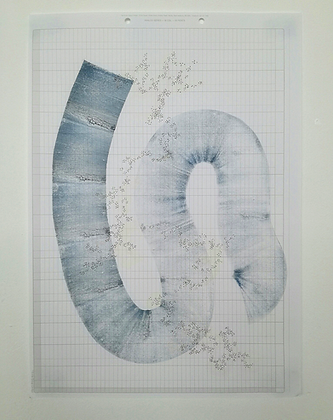 'Whined' Monoprint by India Boxall