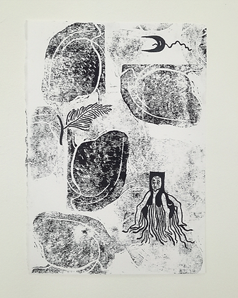 'With Ferns' monoprint series by India Boxall