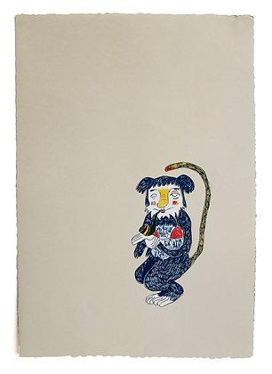 'Monkey' Screenprint by Maria Tolia