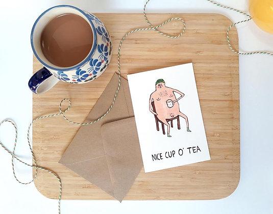 'Nice Cup o' Tea' Greetings card by Harriet Orrey-Godden