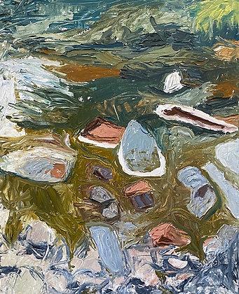'Kelvin Water' oil painting by Susan Torrance