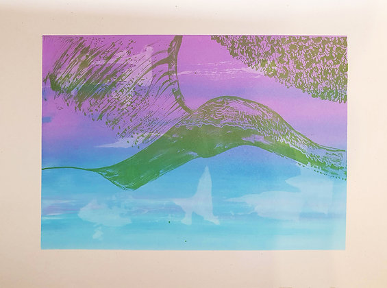 'Seamless Mountain' Screen print by Aqsa Arif