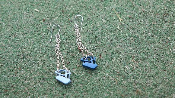 'Nostalgic Swing' earrings by Kim Tiong